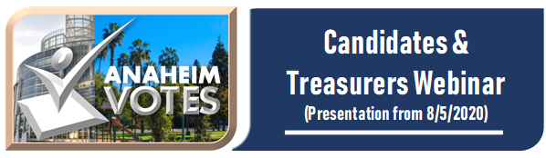 Candidates and Treasurers Webinar