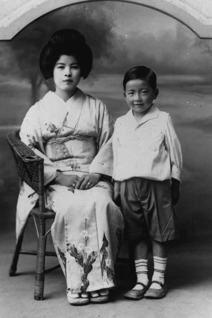 Frank at five-years-old, with his Mother